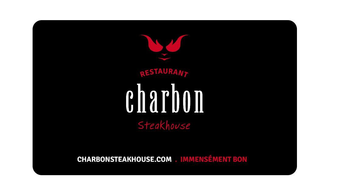 Carte Cadeau Restaurant Montreal.Promotions Charbon Steakhouse