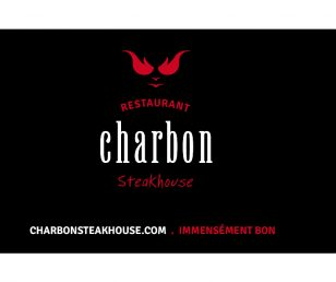 La carte Charbon Steakhouse