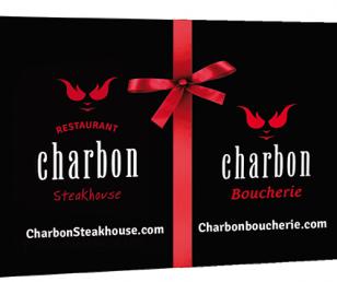 Offrez la carte-cadeau Charbon Steakhouse!