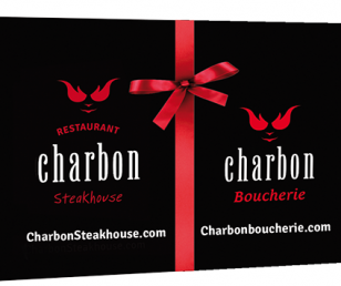 La carte-cadeau Charbon Steakhouse